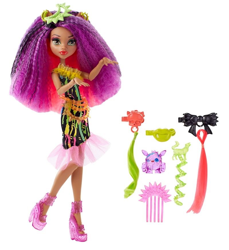 Monster High Electrified Hairstyling Clawdeen Wolf Doll