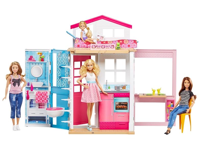 Barbie Slaapkamer Inrichten : Barbie 2 story house