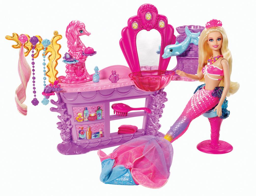 BARBIE The Pearl Princess Hair Salon - Hairstyle barbie doll