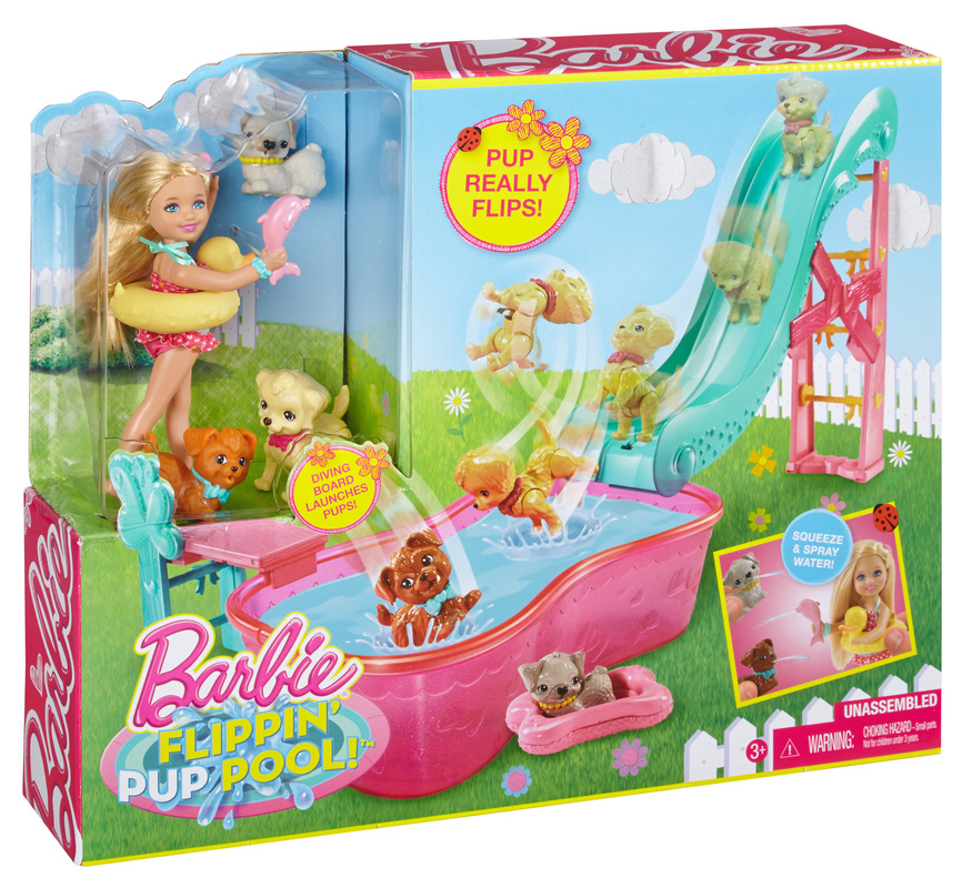 Barbie Chelsea Flippin 39 Pup Pool Play Set