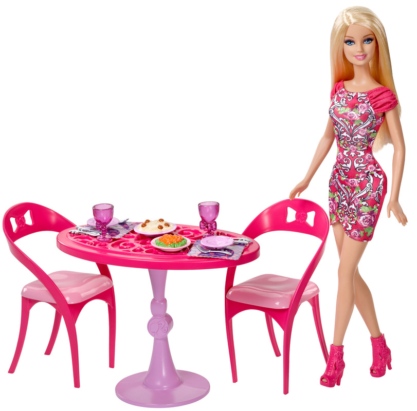 . Barbie Doll and Dining Room Set