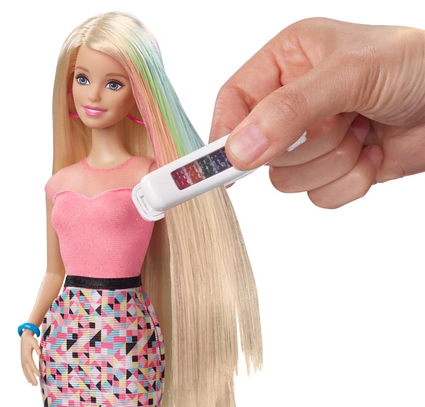 BARBIE Rainbow Hair Barbie Doll - Doll hairstyles barbie