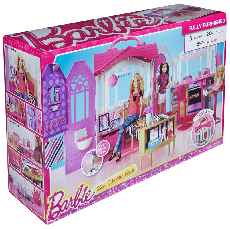 Lots of Accessories Barbie Glam Getaway House w// Carry Around Handle