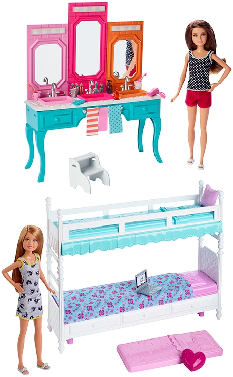 Hermanas barbie con mueble for Muebles para barbie