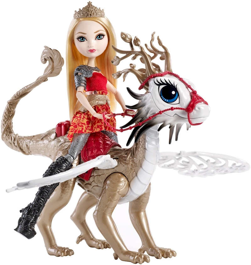 Ever After High Dragon Games Apple White Doll and Braebyrn Dragon ...