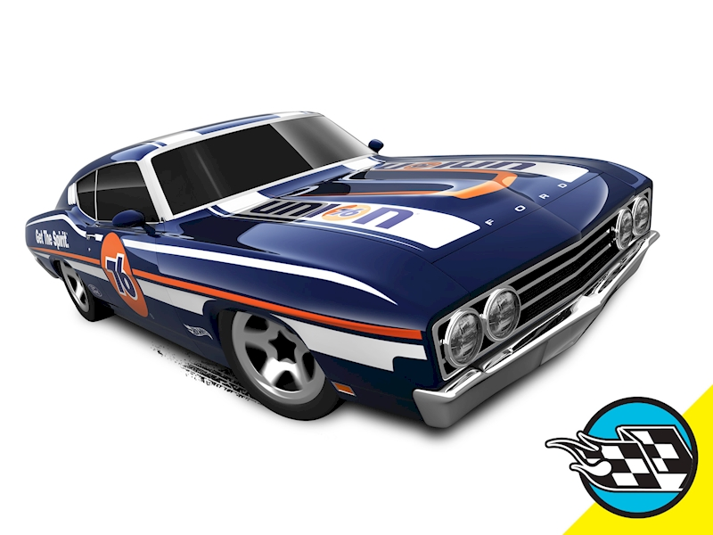 '69 Ford Torino Talladega - Hot Wheels
