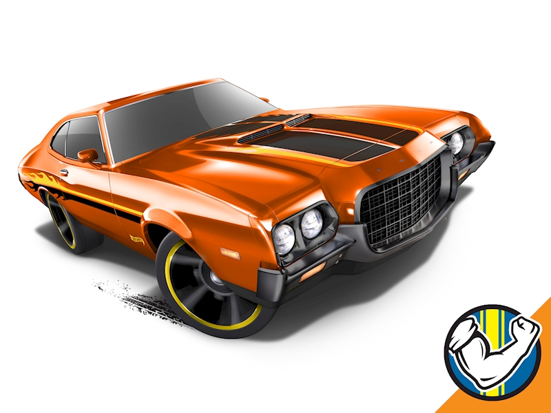 '72 Ford Gran Torino Sport - Hot Wheels