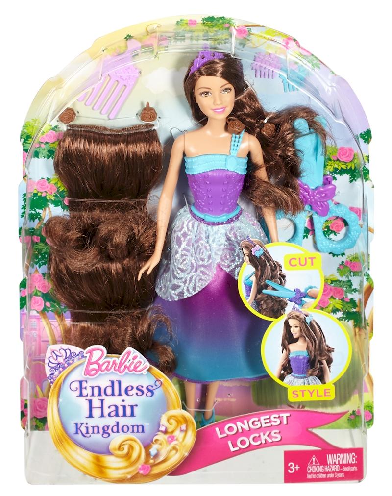 barbie endless hair kingdom longest locks doll purple - Barbie Fe