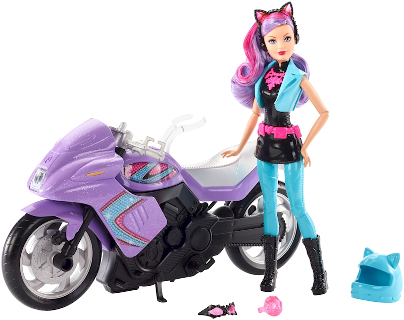Barbie Spy Squad Doll And Motorcycle