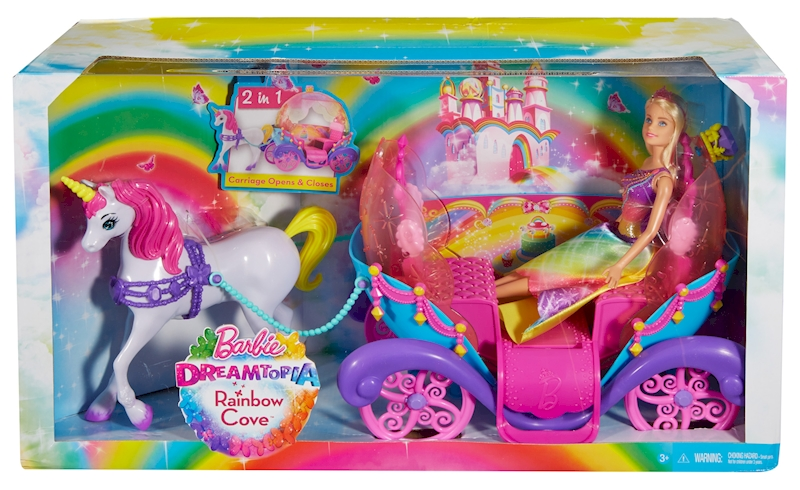 Mattel Игровой набор Barbie Радужная карета и кукла