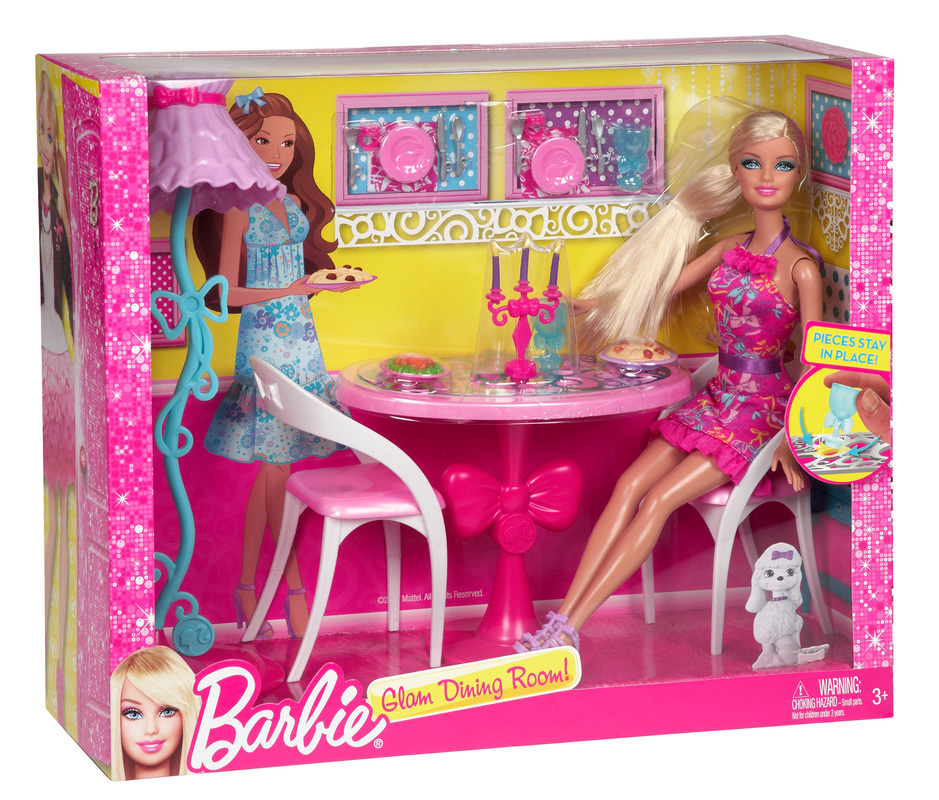 Barbie. Barbie Doll And Dining Room Set   Dining Room Sets