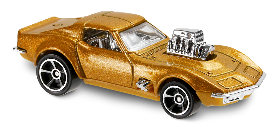 68 Corvette Gas Monkey Garage In Gold Hw Screen Time Car Collector Hot Wheels