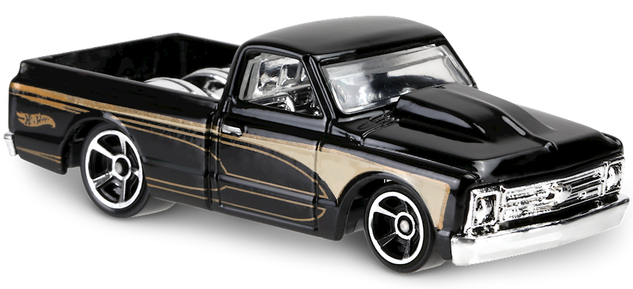 67 Chevy C10 In Black Hw Hot Trucks Car Collector Hot Wheels