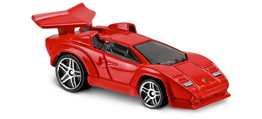 Lamborghini Countach In Red Tooned Car Collector Hot
