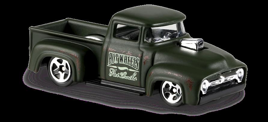 Custom 56 Ford Truck In Green Hw Hot Trucks Car Collector Hot