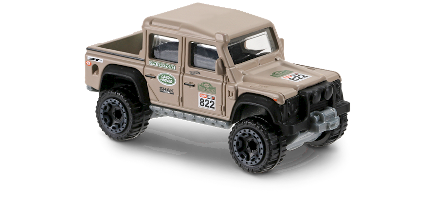 15 land rover defender double cab in brown, hw hot trucks, car