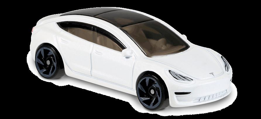 Tesla Model 3 In White Hw Green Speed Car Collector Hot Wheels