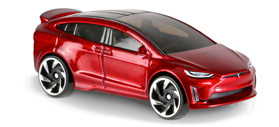 Tesla Model X In Red Factory Fresh Car Collector Hot Wheels