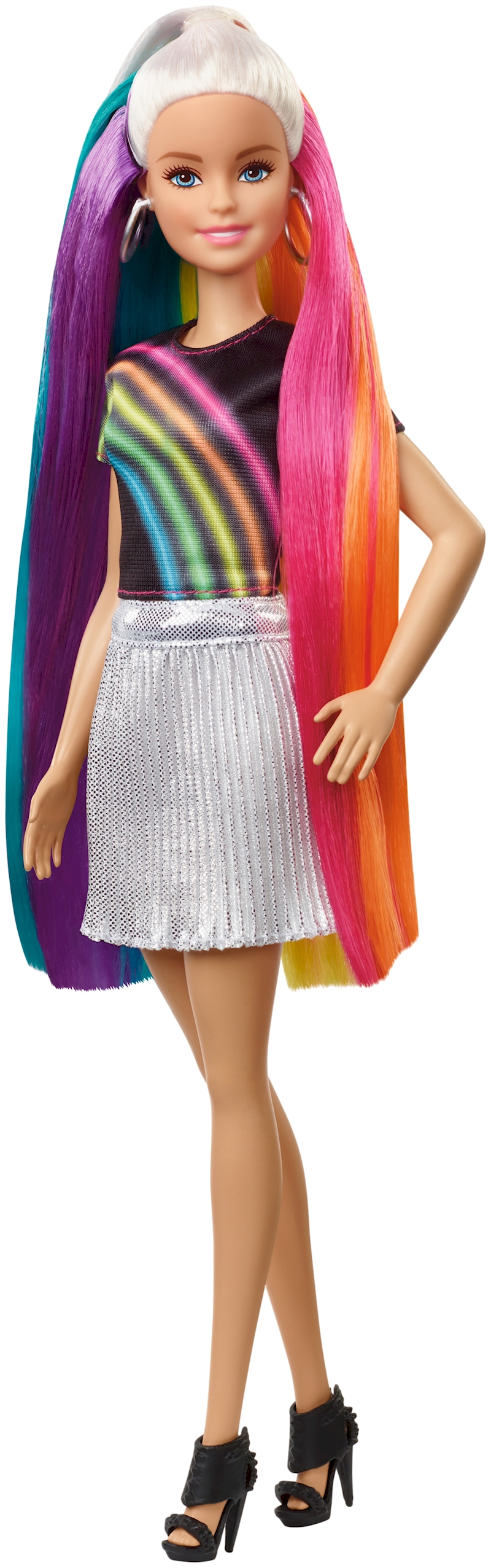 Awesome Rainbow Sparkle Hair Barbie wallpapers to download for free greenvirals