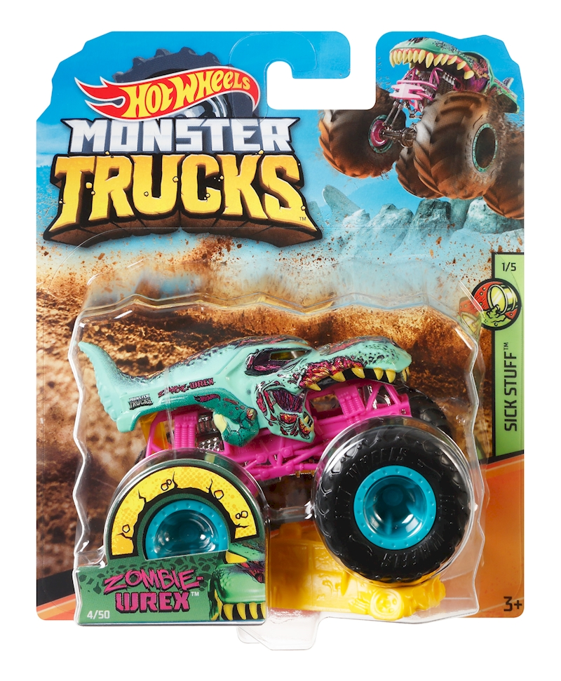 Hot Wheels Monster Trucks Zombie Wrex Vehicle Shop Hot Wheels Cars Trucks Race Tracks Hot Wheels