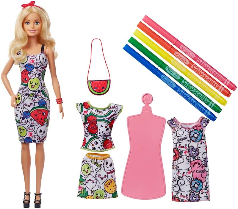 Barbie Crayola Color In Fashions Doll Fashions