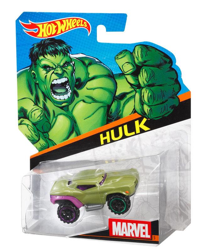Hot Wheels 174 Marvel Character Cars Hulk Shop Hot Wheels