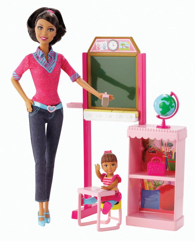 Barbie Careers Teacher African American Doll Playset