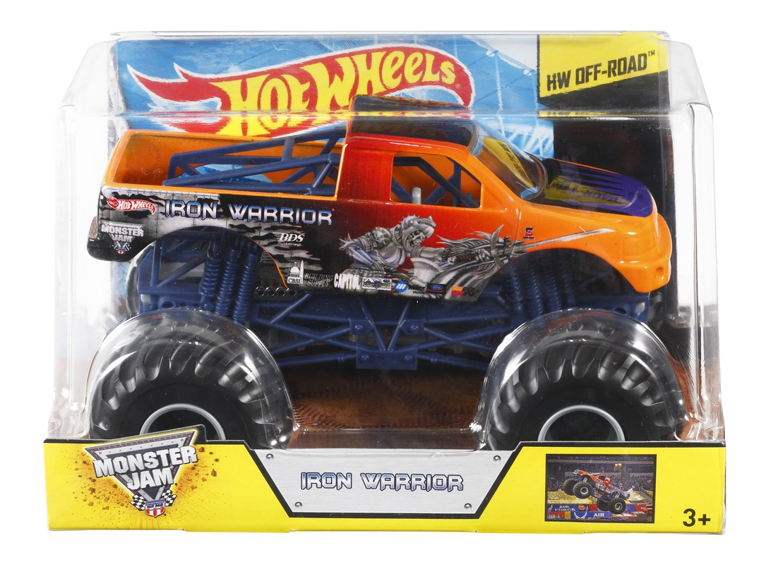 hot wheels monster jam iron warrior shop hot wheels cars trucks race tracks hot wheels. Black Bedroom Furniture Sets. Home Design Ideas