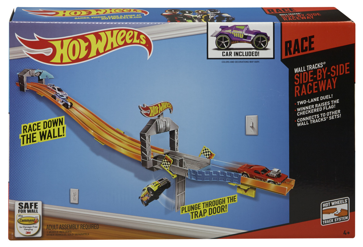 Hot Wheels 174 Wall Tracks 174 Side By Side Raceway Shop Hot