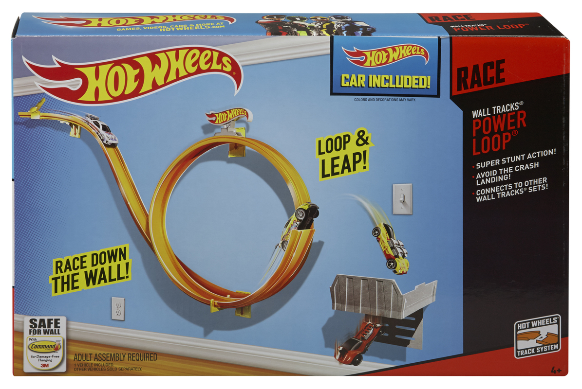 hot wheels wall tracks power loop shop hot wheels. Black Bedroom Furniture Sets. Home Design Ideas