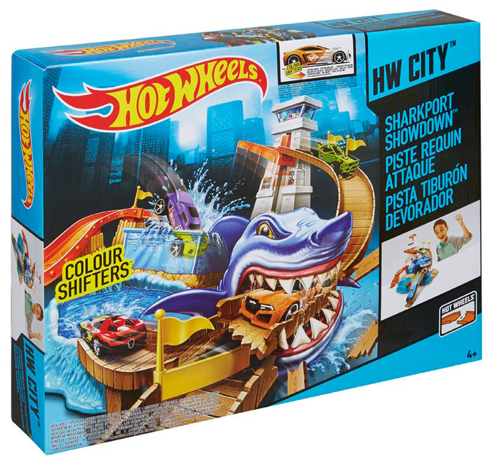 Hot Wheels Color Shifters Sharkport Showdown Play Set Shop Hot