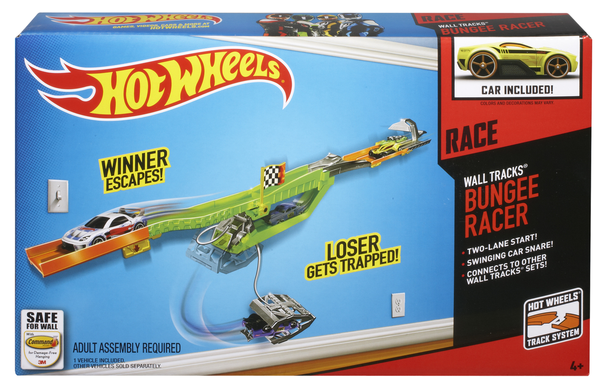 hot wheels wall tracks bungee racer shop hot wheels cars trucks race tracks hot wheels. Black Bedroom Furniture Sets. Home Design Ideas