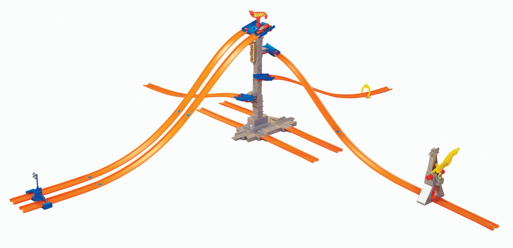 Hot Wheels Track Builder 5 Lane Tower Starter Set Shop Speed Wire Race Car Wiring Cars Trucks Tracks