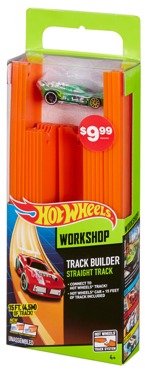 Hot Wheels Track Builder Straight Track And Car Shop Hot Wheels