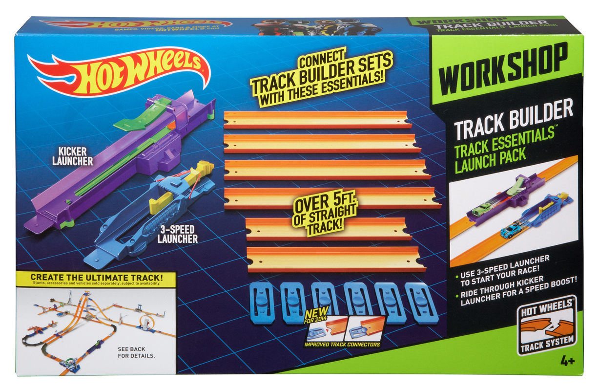 hot wheels track builder track essentials launch pack. Black Bedroom Furniture Sets. Home Design Ideas