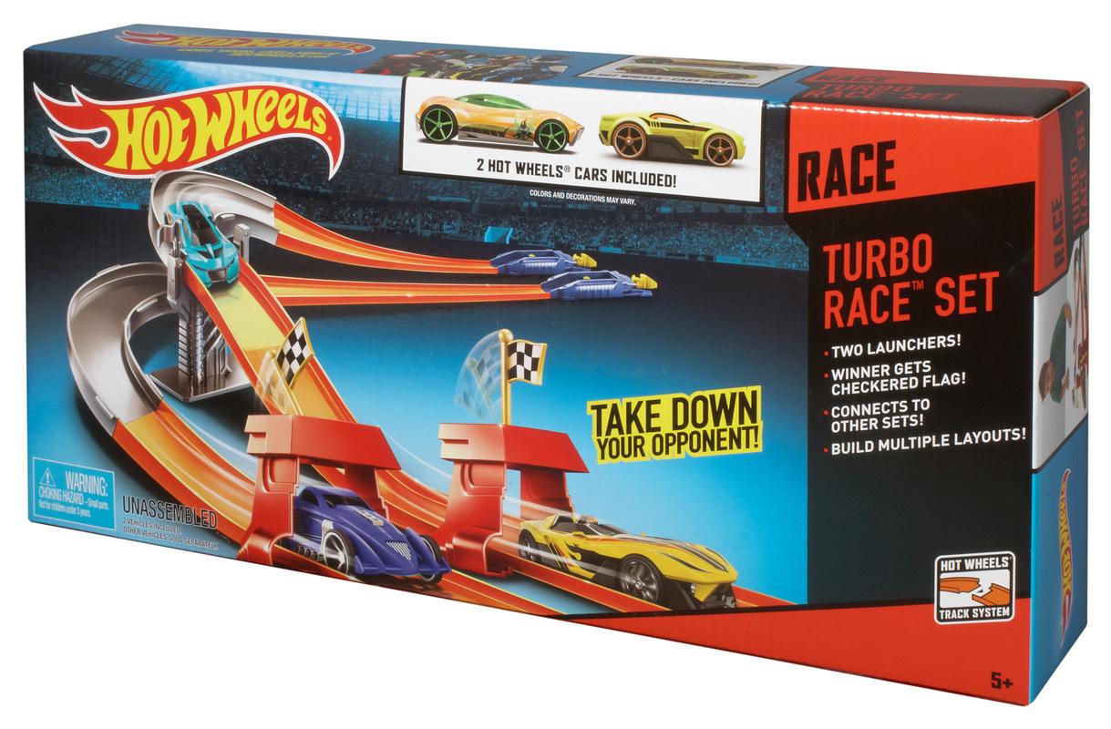Hot Wheels Turbo Race Track Set Cars Trucks Tracks