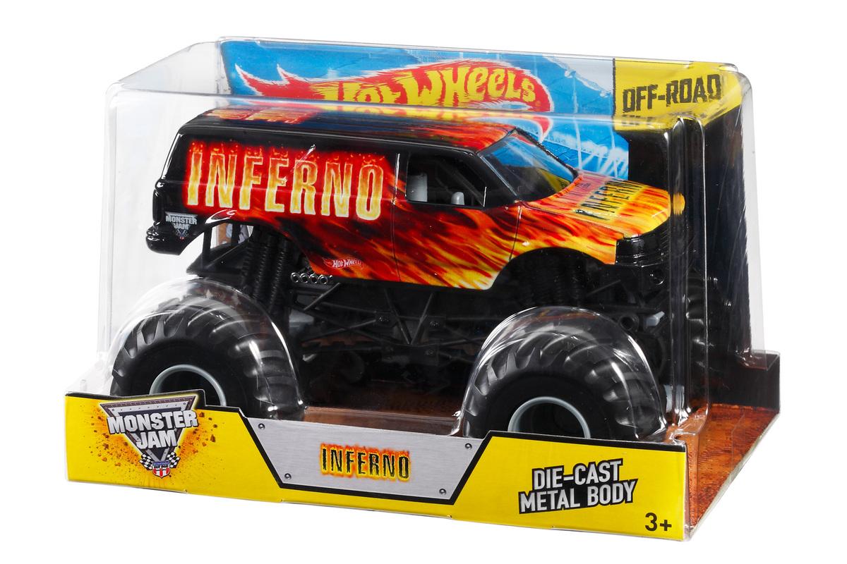 hot wheels monster jam inferno 1 24 die cast vehicle shop hot wheels cars trucks race. Black Bedroom Furniture Sets. Home Design Ideas