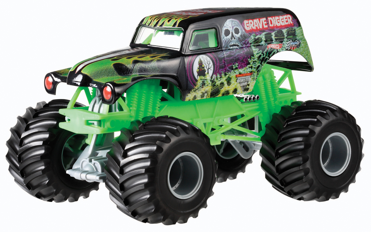 hot wheels monster jam grave digger truck shop hot wheels cars trucks race tracks hot. Black Bedroom Furniture Sets. Home Design Ideas