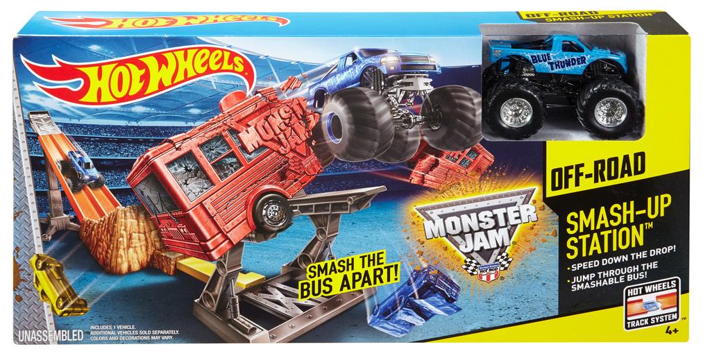 Hot Wheels® Monster Jam® Smash-Up Station™ Track Set ...