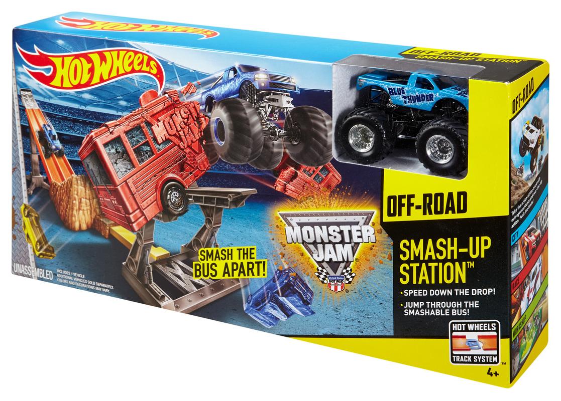 Hot Wheels Monster Jam Smash Up Station Track Set Shop Hot