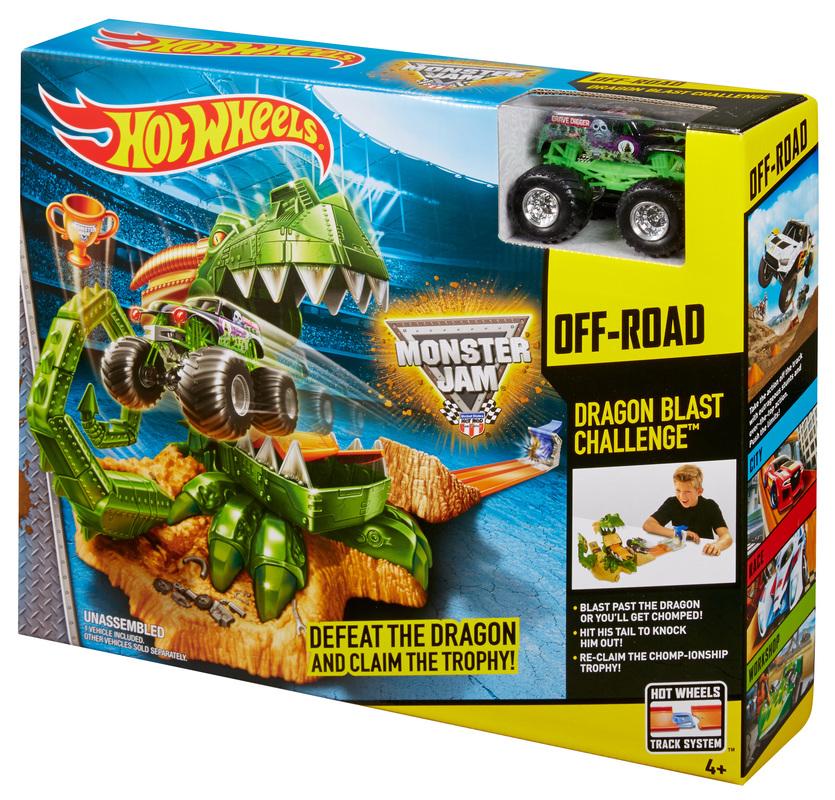 Hot Wheels Monster Jam Dragon Arena Attack Playset- Shop Hot Wheels Cars, Trucks -6465