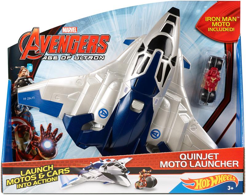 Hot Wheels 174 Marvel Avengers Age Of Ultron Quinjet Moto