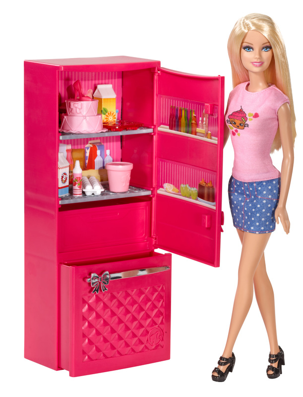 Barbie Doll And Fridge Set