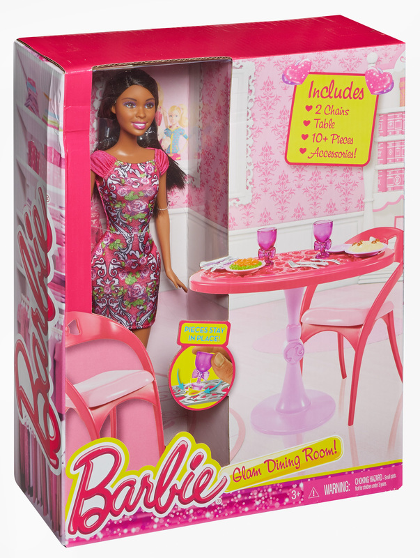 Barbie African American Doll And Dining Room Set