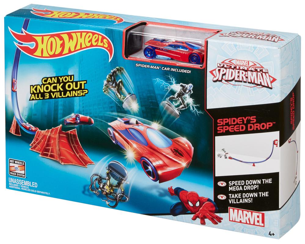 Hot Wheels 174 Spider Man Track Set Shop Hot Wheels Cars