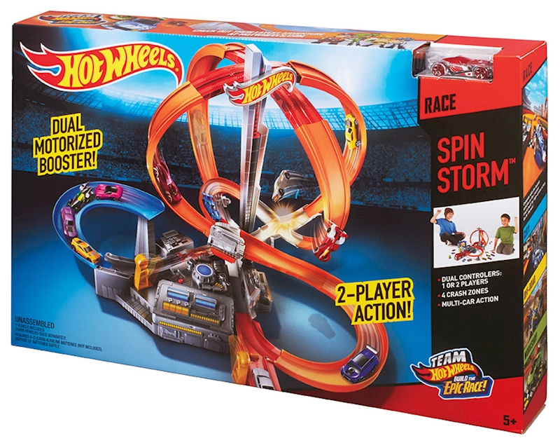 Hot Wheels Spin Storm Track Set Shop Hot Wheels Cars Trucks