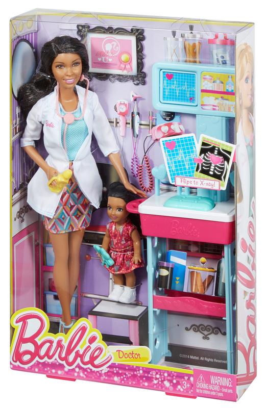 Barbie 174 Careers Doctor African American