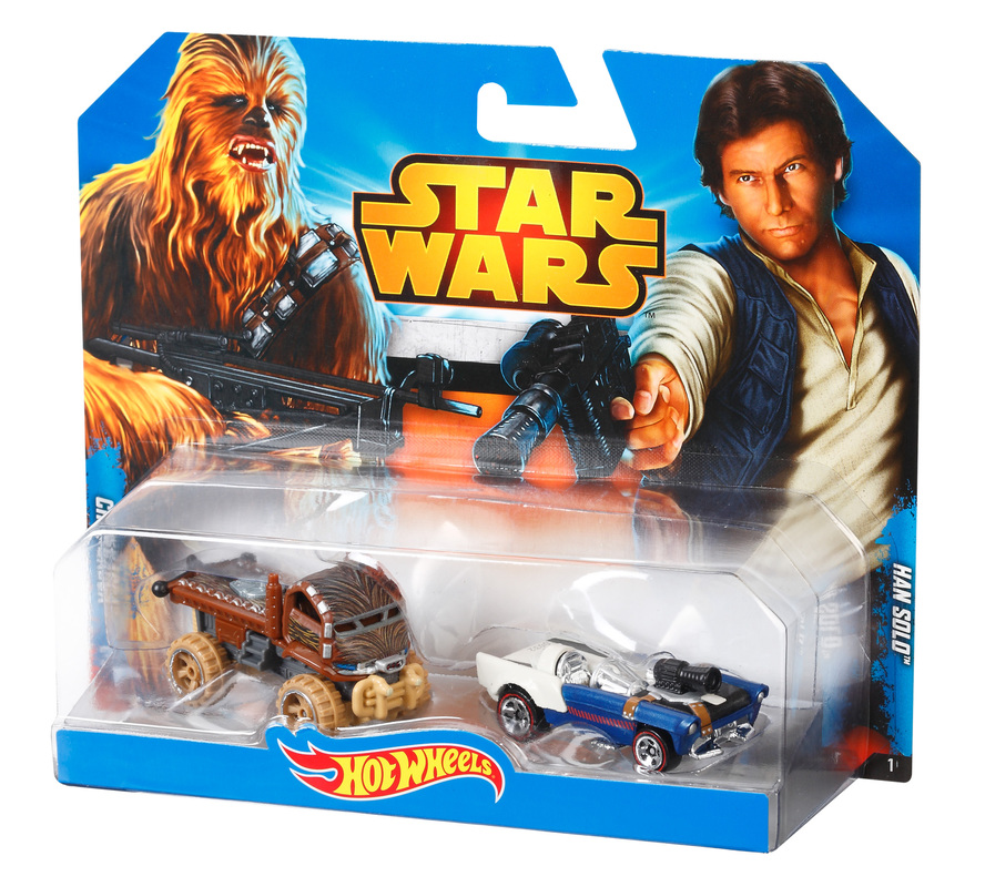 hot wheels star wars 2 car pack han solo and chewbacca shop hot wheels cars trucks race. Black Bedroom Furniture Sets. Home Design Ideas