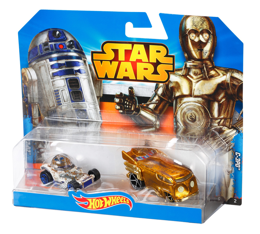 hot wheels star wars 2 car pack c 3po and r2 d2 shop. Black Bedroom Furniture Sets. Home Design Ideas