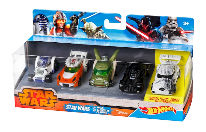 hot wheels pack de 5 star wars shop hot wheels cars trucks race tracks hot wheels. Black Bedroom Furniture Sets. Home Design Ideas